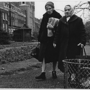 Two women with their shopping, Islington, London