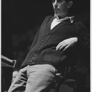 Michael Tippet, composer.
